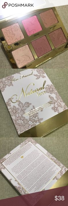 Too Faced Natural Face Palette Brand new  Never used  Never swatched Too Faced Makeup Blush