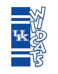 Kentucky Wildcats Applique Sculpted Garden Flag