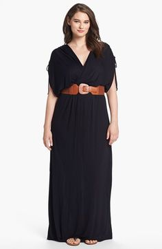FELICITY & COCO Belted Maxi Dress (Plus Size) (Nordstrom Exclusive) available at #Nordstrom