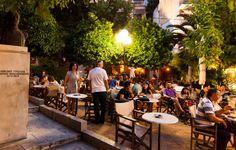 Τρώμε, πίνουμε στην Καβάλα! Greece, Table Decorations, Aqua, Furniture, Drink, Eat, Garden, Home Decor, Greece Country