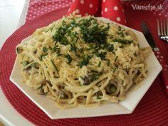 Výborné špagety (fotorecept) Ale, Spaghetti, Food And Drink, Pasta, Ethnic Recipes, Hacks, Ale Beer, Cute Ideas, Ales