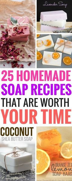 Have you tried any Homemade Soap Recipes yet? If not, you're totally missing out! These diy soaps are easy and quick to make with awesome step by step tutorials. Check out Number 11, it smells divine!