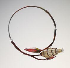 Eunju Park Necklace: Empty 2, 2013 925 silver, nylon (fishing thread), ceramic color 155 x 170 x 45 mm