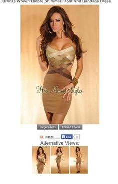 Mocha bandage dress