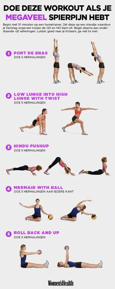 Verminder spierpijn en verbrand calorieën met deze vijf oefeningen!