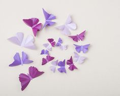 3D Wall Butterflies: Butterfly Wall Art for Nursery, Girl's Room, Wedding & Home Decor in Purple Metallic - Wisteria, Lilac and Orchid on Etsy, $23.00