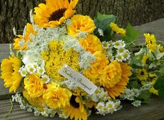 Wedding Flowers from Springwell: Sunflowers for Katie and David's Wedding