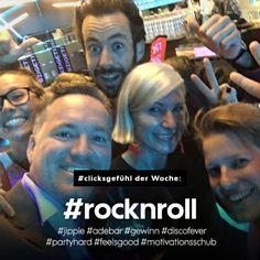 #clicksgefühl der Woche: #rocknroll #jippie #adebar #gewinn #discofever #partyhard #feelsgood #motivationsschub Rock And Roll, Rocknroll, Party Hard, Einstein, Movies, Movie Posters, Rock Roll, Films, Film Poster