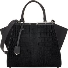 Fendi Women's 3Jours Satchel (45.488.225 IDR) ❤ liked on Polyvore featuring bags, handbags, bolsas, fendi, purses, colorless, leather man bag, fendi handbags, crocodile leather handbags and man bag
