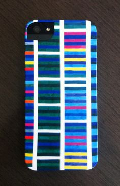 iPhone 5 Case  Blue Tinted Stripes   by AbstractGraphDesigns, $40.00