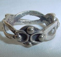Rare SIGNED Vintage 1960s yet NEW OLD STOCK Fine STERLING 6.75 Taxco Mexico RING