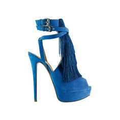 "Kourtney Kardashian in Blue Suede Christian Louboutin ""Change of the... ❤ liked on Polyvore featuring shoes, heels, christian louboutin, sandals and sapatos"