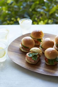 Salmon Sliders with Chipotle Mayonnaise #myplate