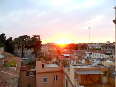 View in Rome, sunset on the Coliseum