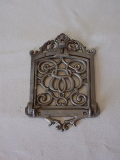 Scrollwork Anitque Cast Metal Flip Door Salvage by theravenandrose