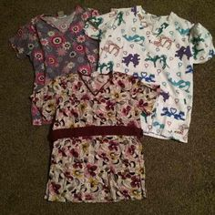 Scrubs Size XS This lot includes 5 tops and 3 pants. All size XS. All in good condition. Other