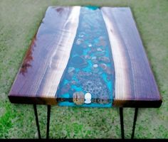 Epoxy Resin Table, Clear Epoxy Resin, Wood Resin, Diy Epoxy, Live Edge Table, Live Edge Wood, Tree Table, A Table, Dining Table