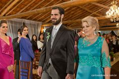 Vestido Sob Medida Carolina Barbosa, para mãe do noivo.