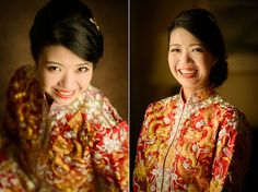 Bride wears Chinese kua. Lu and Kat's Stylish Wedding in Qingdao, China