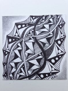 Alei Zentangles and Inspiration : Zentangle challenge Crafty Fox, Tangle Doodle, Zentangles, All Art, Tangled, Doodles, Challenges, Pattern, Inspiration