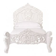 Petit Rococo French White Bed