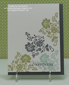 Another lovely one layer card.  This one by Sue Noetzel.