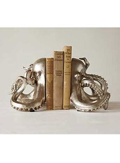 Deep Sea Storytelling Octopus Bookends by Creative Co-Op | Nest | PLASTICLAND