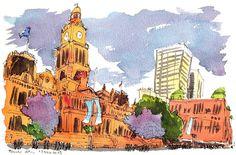 Urban Sketchers: My Melbourne & Sydney Travelogue (6-16 Nov 2015)