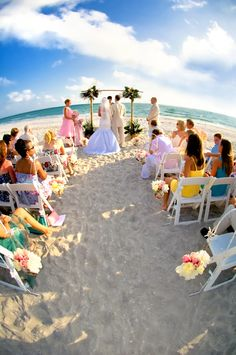 Ceremony On One Of Our White Sand Beaches Dara Caudill Photographer