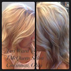 Blonde hair by Teri Ward @ J McQueen Salon, Cincinnati, 347-7400