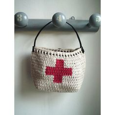 <3 +'s x sac crochet croix suspendre rangement