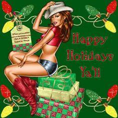 christmas cowgirl   Cowgirl Christmas MySpace graphics