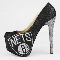 Brooklyn Nets Womens Limited Edition High Heel Crystal Pump Footwear – One way to support your team.