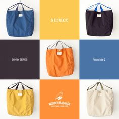 WONDER BAGGAGE ワンダーバゲージ 箱 box ボックス relax sunny リラックス サニー Diy Fashion, Fashion Bags, Baggage, Sunnies, Drawstring Backpack, Relax, Pouch, Backpacks, Tote Bag