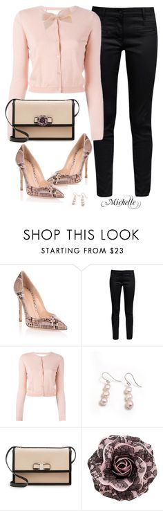 """""""Python Pink"""" by michellesherrill ❤ liked on Polyvore featuring Gianvito Rossi, Great Plains, RED Valentino, Hiho Silver and Salvatore Ferragamo"""