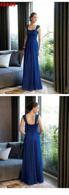 A-Linie aus Chiffon Carmen-Ausschnitt Ärmellos Reißverschluss Kaiser Blau Bodenlange Brautjungfernkleider                                 Specifications                                              ÄRMELLÄNGE          Ärmellos                                  AUSSCHNITT          Carmen-AUSSCHNITT                                  RÜCKEN          Reißverschluss                                   SAUM#sioedam_couture#evamertzen#stylish#inlove#lace#brautjungfernkleider