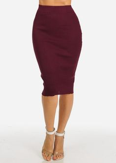 55bba910135c Kate Kasin Womens Wear to Work Stretchy Pencil Skirts