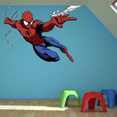 Full Colour Spiderman Wall Sticker Decal Mural Transfer Boys Bedroom Graphic 3 On Etsy 2928