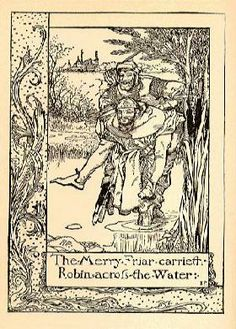 From Howard Pyle's 1883 The Merry Adventures of Robin Hood. Image appears courtesy of The Robin Hood Project at the University of Rochester