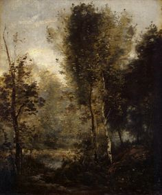 Jean Baptiste Camille Corot, Pool in the Wood