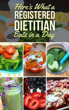 Here Is What A Registered Dietitian Eats In A Typical Day - change some ingredients for vegan options and that's an easy day! Healthy Habits, Healthy Tips, Healthy Snacks, Healthy Recipes, Eat Healthy, Yummy Recipes, Food Heaven Made Easy, Clean Eating, Registered Dietitian
