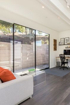 Large Aluminum Sliding Gl Doors That Open The Outside View And Flood Room With Natural