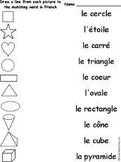 kindergarten beginners french worksheet printable school stuff french worksheets french for. Black Bedroom Furniture Sets. Home Design Ideas