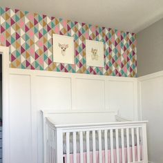 """"""" I used the Triad Stencil in our baby's nursery. This is my second stencil from you and people are always impressed! Thank you!"""" ~ Jennifer K. on painting the Triad Allover Stencil, a popular wall pattern, from Cutting Edge Stencils  Triad Stencil: http://www.cuttingedgestencils.com/triad-pattern-stencils-for-diy-home-decor.html"""
