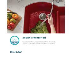 "Elkay Quartz Luxe 35-7/8"" x 19"" x 9"" Single Bowl Undermount Kitchen Sink with Perfect Drain Apron Sink Kitchen, Composite Sinks, Acrylic Resin, Quartz, Food, Essen, Meals, Yemek, Eten"