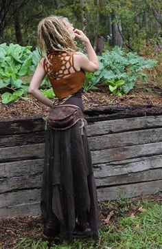 Crochet Cotton Hand Dyed Golden Rust Pixie Mandala by Wyldeskye