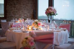 A beautiful ain at Vineland Estates Winery Vineland Estates, Tears Of Joy, Pale Pink, Wedding Reception, Boston, Table Decorations, Beautiful, Ideas, Wedding Reception Venues