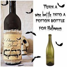 Turn a wine bottle into a potion bottle: Turn a wine bottle into a potion bottle