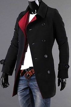 US Seller Men/'s Stylish Navy Blue Casual Coat Slimfit Hoodie Jacket Outwear PK88