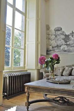 Image result for decorating around cast iron radiators
